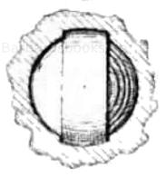 Berners zweizügige Bohrung mit eingesetzter Gürtelkugel.