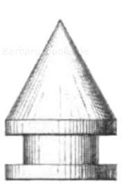 Spitzgeschoss, zylindrokonisch und gereifelt (Delvigne)
