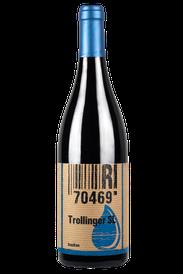 Flasche vom Trollinger Wein in den Stuttgarter Weinbergen