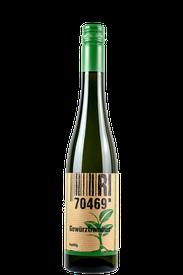 Flasche vom Gewürztraminer Wein in den Stuttgarter Weinbergen