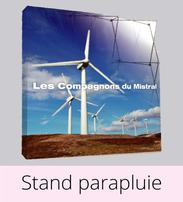 Imprimco - Impression 100% en ligne- impression Nantes-Pays de la Loire - vos stand parapluie à prix attractif