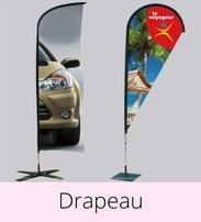 Imprimco - Impression 100% en ligne- impression Marseille - vos beach flag ou drapeau à prix attractif