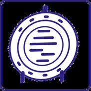 Symbol Schmuckteller aus Zinn