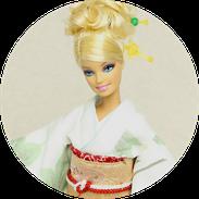 バービー振袖、kimono Barbie,kimono doll