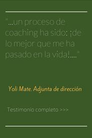 Testimonio de coachee en proceso personal de coaching