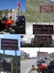 Viele Pässe für Motorradfahrer in Südtirol