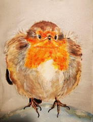 45.Robin...top of the world 18x24cm
