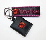 Diabetiker  Schlüsselanhänger Notfallset Anhänger Diabetes