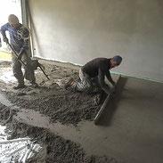 Heizestrich Zementestrich Fließestrich Fußbodenbau Trennschichtestrich
