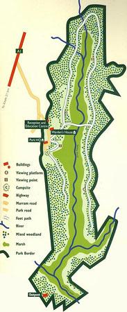 Mappa Saiwa Swamp National Park