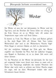 Sachtexte Winter Und Weihnachten Fraumohrsrasselbandes Webseite