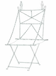 Rekonstruktionszeichnung der  Stuhls von Rülzheim.