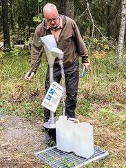 Wasser in Finnland für das Wohnmobil