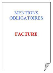 mentions obligatoires sur une facture