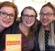 v.l.n.r.: Isabel Rohner, Rebecca Beerheide, Ulrike Helmer