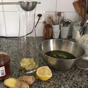 Zubereitung eines Vitamindrink