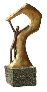 Moderne Kunst Skulptur auf Granit
