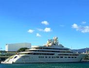 Самая дорогая яхта в мире в порту Барселоны