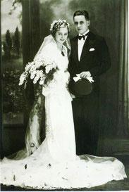 Georg Kühne und Rosa Maria Trnka. Hochzeit am 28.12.1938