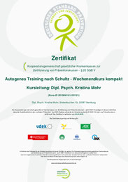 Autogenes Training Mohr Trainings