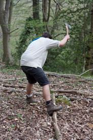 Holz hacken, Pfadfinder Aachen