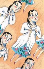 Una de les il·lustracions de Blanch al llibre de la Marató 2016