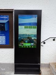 Informationsstelen und Wandmonitore für den Außenbereich