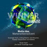 Deutschen Media Preis in der Kategorie Media-Idee Markenerlebnis/Event