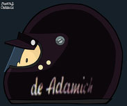 Helmet of Andrea de Adamich by Muneta & Cerracín