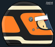Helmet of Nico Hülkenberg by Muneta & Cerracín