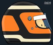 Helmet of Nico Hülkenberg by Muneta & Cerracín