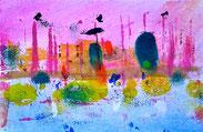 Sublime profondità, 2013, tecnica mista, 17,7 x 11,4 cm