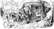 Postwagen um 1860