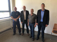 Rainer Böser, Dr. Dennis Nitsche, Stefan Kuhn und Jürgen Stephany