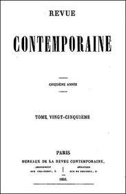 Couverture. Félix-Sébastien Feuillet de Conches (1798-1887) : Les peintres européens en Chine et les peintres chinois. Revue contemporaine, Paris, 1856, pages 216-260.