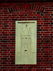 Darstellung des Altenbrücker-Tores an einer Hauswand