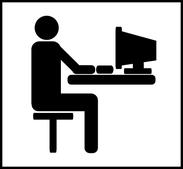 Richtig vor dem Bildschirm sitzen