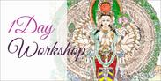 色つきの仏画を描く体験会・ホワイトターラにて開催中