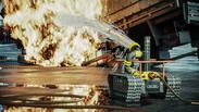 Fire-Robotic для пожаротушения