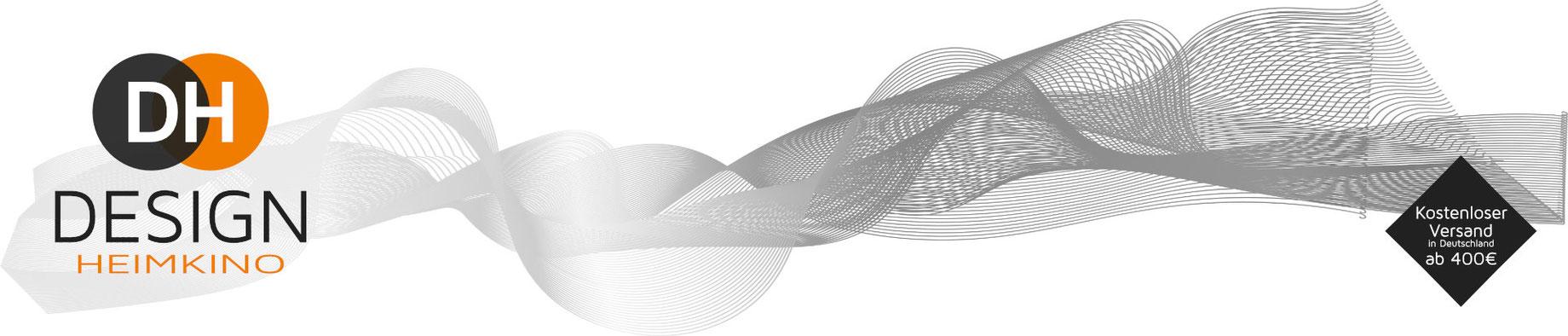 Akustik-Deckensegel mit edlen Alurahmen - Design-Heimkino