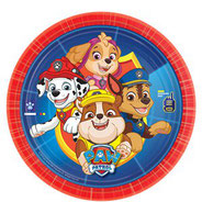 Paw Patrol - Marshall, Skye, Rubble, Chase auf Pappteller