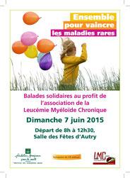 LEUCEMIE MYELOIDE CHRONIQUE balade solidaire caisse locale Vallée Meuse Fondation Groupama association patients LMC France CANCER MALADIE RARE SANG