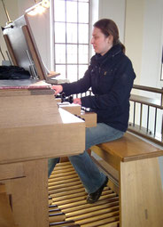 Organistin Klara Riesch