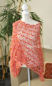 Chal (shawl) o tapado de primavera tejido a crochet!