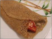 recette galette de sarrasin à la saucisse de morteau, tomate et comté