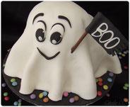 gâteau 3D fantôme tutoriel