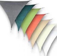 tende #vele #ombreggianti #impermeabili #traspirante #parasole #antivento #antistrappo #triangolare