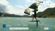 Wing foil au lac Monteynard