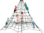 piramide 350 giochi per parchi, attrezzature per parchi gioco, strutture ludiche Stileurbano Ciuffo Baobab certificati Norma EN1176 CATAS stileurbano oratorio FOM odielle abbiategrasso
