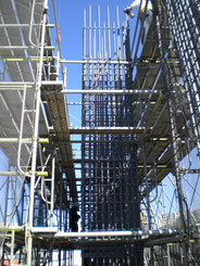 基礎柱地組み